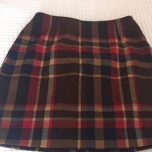 The Limited Plaid Mini Skirt